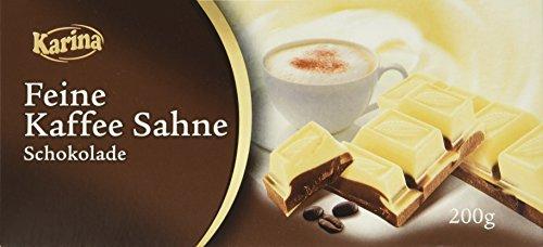 Karina Schokolade Kaffee-Sahne, 10er Pack (10 x 200 g Packung)