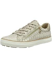 s.Oliver Damen 23615 Sneaker, Weiß/Silberfarben, 50 EU