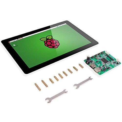 "Raspberry Pi 10.1\"" Display Touchscreen – SunFounder 10.1 Zoll IPS LCD HDMI 1280x800 for Raspberry Pi 3 2 Model B and RPi 1 B+ LattePanda Beagle Bone"