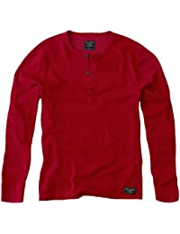 Abercrombie - Homme - Long-Sleeve Waffle Henley Shirt Top - Manche Longue