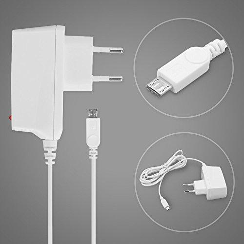 subtel® Qualitäts Ladekabel - (1.2A) für Samsung SGH-G810 / GT-M7500 Emporio Armani / GT-i8510 INNOV8 / GT-M7600 (5V / ) Ladegerät Netzteil Charger weiß