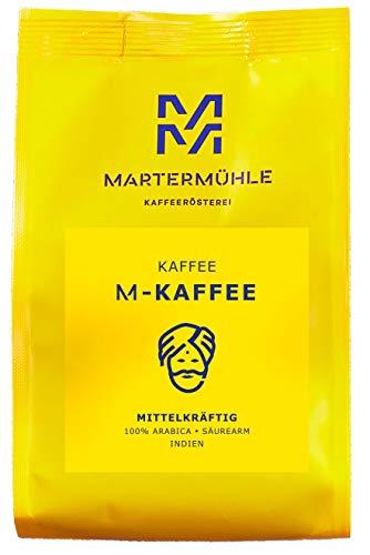 Martermühle | M-Kaffee (1kg) | Ganze Bohnen | Premium Kaffeebohnen aus Indien | Schonend geröstet | Kaffee säurearm | 100% Arabica
