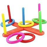 TOYMYTOY Colorful Ring Toss Rings Educación Juguete Rompecabezas Formación Para Jardín Backyard Juegos al aire libre Juego de puntería