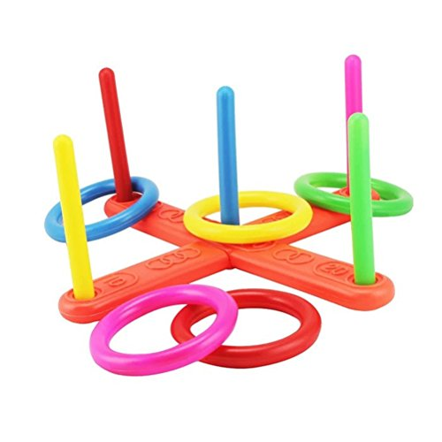 TOYMYTOY Colorful Ring Toss Rings Educación Juguete