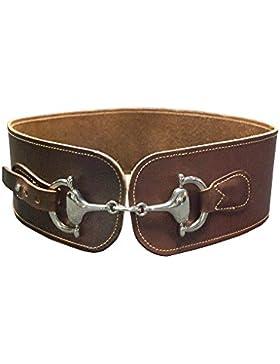 Bonake Cinturón de señora tipo fajín con pieza de bocado en níquel.