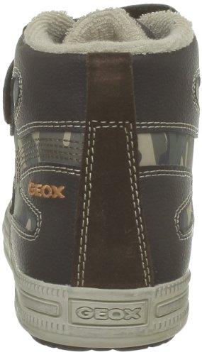 Geox J Elvis B, Baskets mode garçon Marron (Brown/Orange)