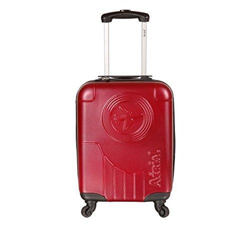 Preisvergleich Produktbild Horizon Koffer Kabine Hartschale ABS 4Rollen 50cm Aerial Classic rot
