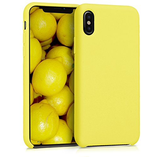 kwmobile Apple iPhone X Hülle - Handyhülle für Apple iPhone X - Handy Case in Gelb