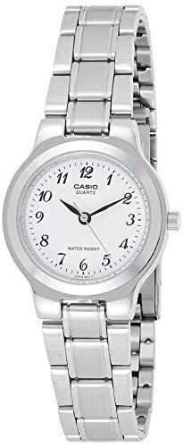CASIO 19206 LTP-1131A-7BR - Reloj Señora Cuarzo Brazalete metálico dial Blanco