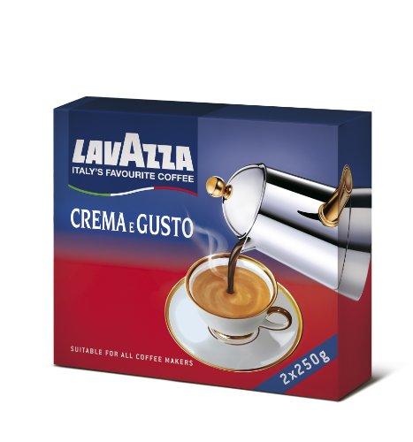 Lavazza Caffè Macinato Crema e Gusto Classico - 2 Confezioni da 250 gr [0.5 Kg]