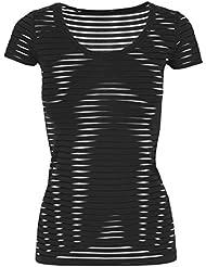 Urban classics t-shirt scuba t-shirt semi-transparent