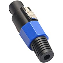 IPOTCH Profesional Speakon NL4FC Conector de Enchufe Amplificador de Bloqueo Enchufe de Cable 4 Polos
