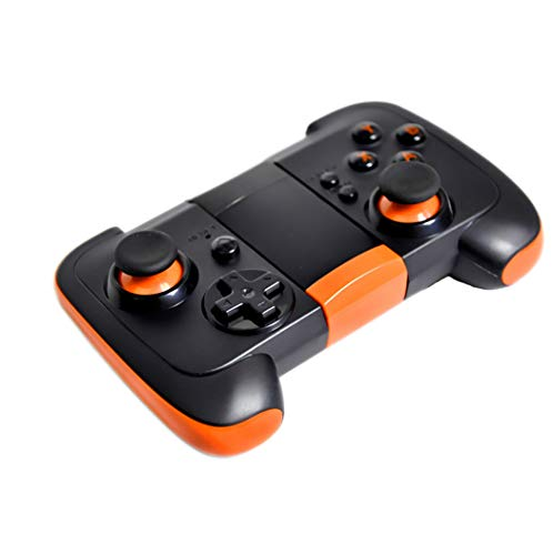 Mvlike Kabelloses Bluetooth Gamepad für Android Smartphone Tablet IOS System13X8X4cm (Farbe : Orange)