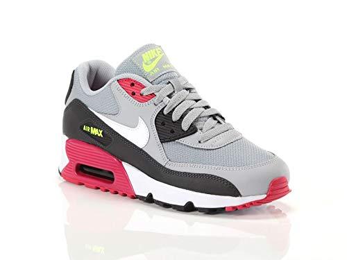 Nike Air MAX 90 Mesh (GS), Zapatillas de Atletismo para Niños, Multicolor (Wolf Grey/White/Rush Pink/Volt 000), 36.5 EU