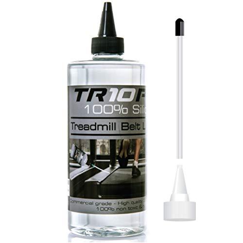 TR10 Silikon-Laufband-Schmieröl - Leicht aufzutragendes Schmiermittel mit handlichen Applikator - Lebensverlängerung für alle Laufbänder! Halten Sie Ihr Laufband leise und geschmeidig!