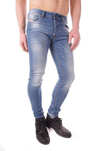 Diesel Sleenker 0670K Stretch Herren Jeans Hose Slim Skinny (W31/L32, Blau) -