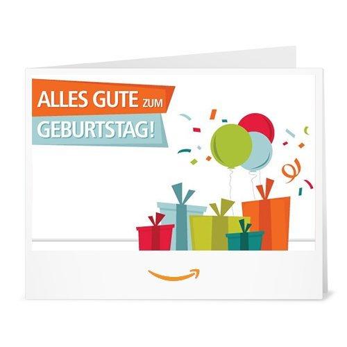 Amazon.de Gutschein zum Drucken (Geburtstagsgeschenke)