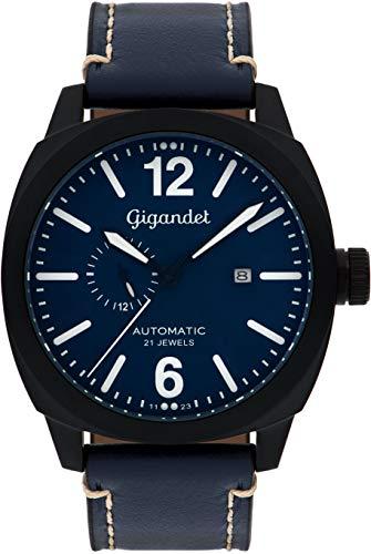 Gigandet Red Baron Herren-Armbanduhr Automatik Analog mit Lederarmband G16-005