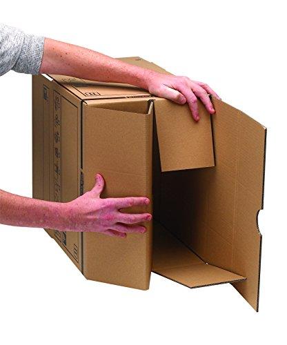 Bankers Box Umzugsbox SmoothMove klein (aus 100% recyceltem Karton, 10er Packung) braun - 6