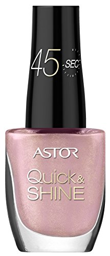 Astor Quick & Shine Nagellack, 619 Pink Cupcake (rosa), schnell trocknend, 1er Pack (1 x 8 ml) (Cupcake Nagellack)