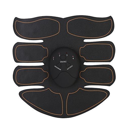 Massage-ausrüstung (Bauchmuskeltraining Gürtel, Intelligente 6 Modi Toner Trainer Mit Gel Patch Bodybuilding Fitness Massage Ausrüstung(copper 1 belly stickers +1 host))