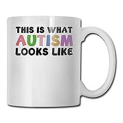 Dies ist, was Autismus aussieht wie Mode Kaffeetasse Porzellanbecher