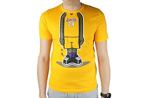 adidas Youth GFX Pl La Lakers tee Camiseta, Amarillo (Yellow G77938), 140 para Niños