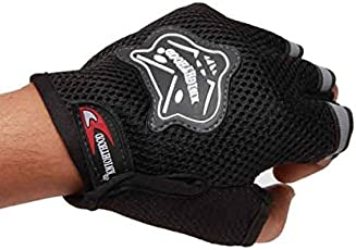 EASY4BUY Driving Riding Gloves Half - Black - Size (XL)
