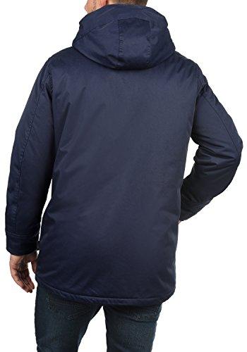 INDICODE Vancouver Herren Winterjacke Jacke mit Kapuze aus hochwertiger Baumwollmischung Navy (400)