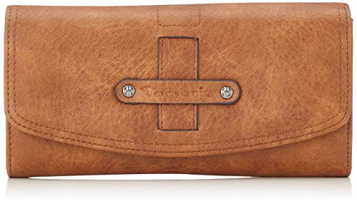 Tamaris Damen Bernadette Big Wallet with Flap Geldbörse, Braun (Cognac), 2x10x19,5 cm