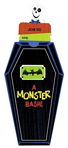 r Familie, Halloween, Monster-Bash, Papier, 17,8 x 10,2 cm, 8 Stück ()