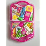 Doctor Play Set With Foldable Suitcase ( Pink Color ) For Kids