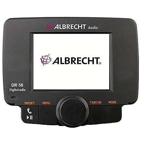 Albrecht DR 56 Autoradio DAB+ Adapter Digitalradio mit Bluetooth Freisprechanlage in schwarz