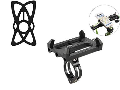 Lixada GUB Antideslizante Bicicleta Ajustable 360 ° Soporte de Montaje Ggiratorio para Teléfono de 3,5-6,2 Inch (Soporte+Banda)