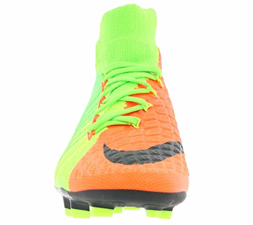 Nike Unisex-Kinder Hypervenom Phantom 3 Df Fg Fußballschuhe Mehrfarbig (Elctrc Green/Blk-Hypr Orng-Vlt)