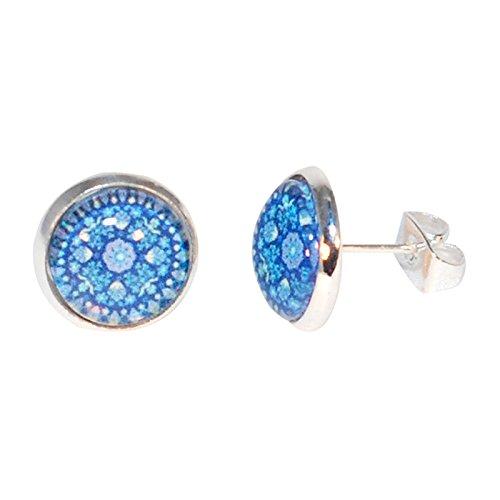 Créative-Perlas pendientes chips para lavamanos mandala redondo, color azul marino, color azul