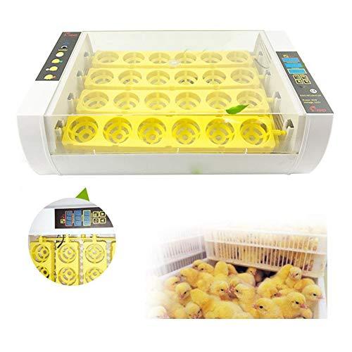 GxNImer 24 Eier Inkubator, automatischer digitaler Ei-Inkubator für Hühnerduck-Taubenvogel Schraffcher LED-Anzeigetemperatur und Feuchtigkeit kontrollierbar,UK