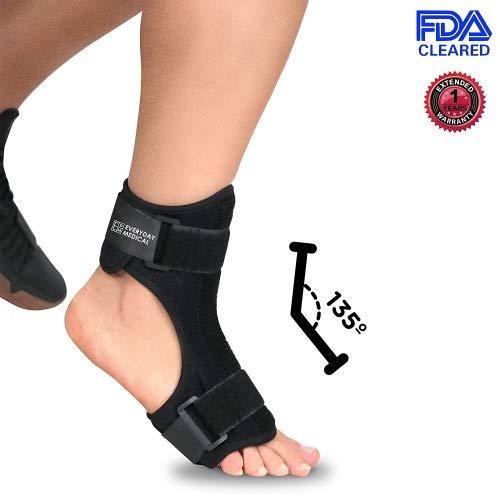 Férula plantar - Férula dorsal nocturna para Fascitis plantar - Tobillera, Soporte ortopédico de estiramiento del pie ergonómico con barra flexible - Tendinitis de Aquiles, espolones, dolor de talón