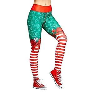 Recoproqfje-Weihnachtsleggings-Turnhallen-Hosen für Sport-Yoga-Eignungs-Frauen-hohe Taillen-Lange Hose