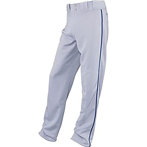 Easton Boys' Youth Quantum Plus Baseball Pants with Piping (Grey/Royal, Youth Large) by Easton