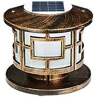 E27 Europ/äische Au/ßenposten Laterne Outdoor S/äule Lampe T/ür Lampe Villa Hof Haushalt Community Street Wandleuchte Wasserdicht IP55 Color : Bronze-H-38cm