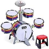 a636246fd0694 LIUFS-Tambor Tambores Para Niños Tambores Música Juguetes Educativos Percusión  Bebés Educación Temprana Batería Batería