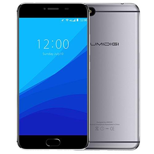 Preisvergleich Produktbild UMIDIGI C Note Smartphone Ohne Vertrag(5.5 Zoll (14 cm) Touch-Display,  3GB RAM + 32GB ROM,  3800 mAh,  13MP Hauptkamera + 5MP Front Kamera,  4G Dual SIM,  Fingerabdruckscanner,  Android 7.0) - Grau