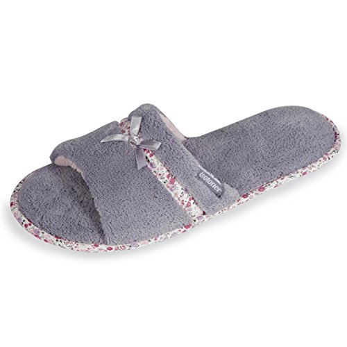 Isotoner Chaussons sandales femme liberty Femme Gris