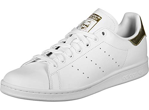 adidas Stan Smith W, Scarpe da Ginnastica Basse Donna, Multicolore Ftwr White/Gold Met. Ee8836, 37 1/3 EU