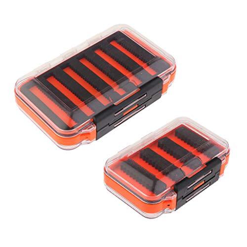 CUTICATE 2 Stück Wasserdicht Fliegenfischen Box Fischköder Sortiment Aufbewahrungsbox mit Transparenter Deckel