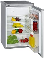 Bomann KS 197 Kühlschränke / A++ / 84.5 cm Höhe / 137 kWh/Jahr / 104 L Kühlteil / 14 L Gefrierteil / silber