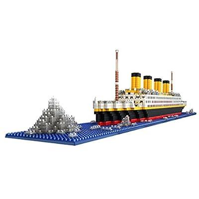 Gazechimp Set 1860pcs Jouets Enfants Puzzle 3D Bloc de Construction Jeux éducatifs Maquette Bateau