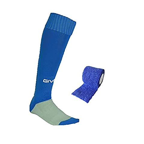 Boys Royal Blue Givova Football socks + FREE MATCHING SOCK TAPE - Size 3-6