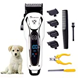 Surker SK-80501 Pet Cordless and Rechargeable Trimmer (White)